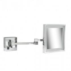 GEESA Scheerspiegel, 2 armen, LED verlichting, 3x vergrotend, 205x205 mm