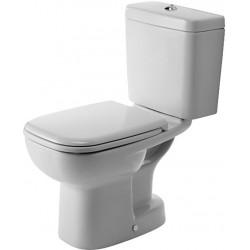 DURAVIT D-Code Staande-WC Kombi 65 cm D-Code wit  , Diepspoel, afvoer vertikaa