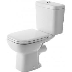 DURAVIT D-Code Staande-WC Kombi 65 cm D-Code wit  , Diepspoel, afvoer horizont