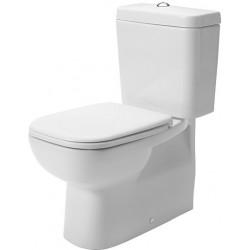 DURAVIT D-Code Staande-WC Kombi 65 cm D-Code wit Diepspoel, afvoerVario, gesloten