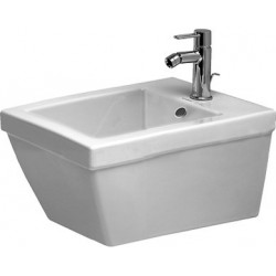 DURAVIT 2nd floor Wandbidet 54 cm 2nd floor wit  , 1 kraangat, Durafix