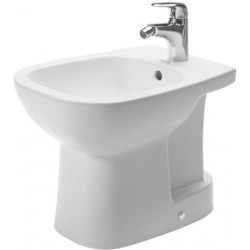 DURAVIT D-Code Staand bidet 48 cm D-Code Compact wit  , m.overl., m.krbank,