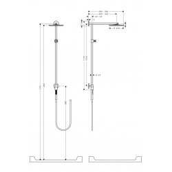 Hansgrohe Raindance Connect 240 arm 460