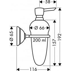 Axor Hansgrohe Carlton lotiondispenser chroom