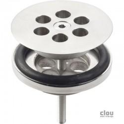 clou Wash Me plug, rvs geborsteld t.b.v. siliconen waterstop