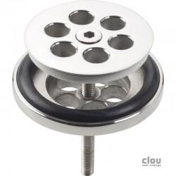 clou Mini Wash Me plug, chroom t.b.v. siliconen waterstop