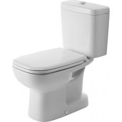 DURAVIT D-Code Staande-WC Kombi 65 cm D-Code wit  ,diepsp.,afvoer vertikaal,AUS