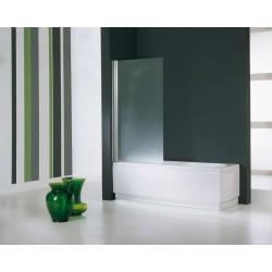 Novellini  aurora 1 spatscherm afmetingen 75x150 cm helder glas chroom