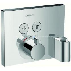 ShowerSelect inbouwthermostaat voor 2 systemen met FixFit en Porter Unit - afwerkset