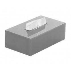 Gedy Rainbow Zakdoekendoos 25x13,5x7,5 cm - Zilver