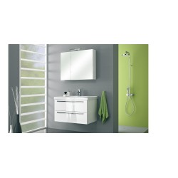 badkamermeubel  Pelipal Cubic van 90 cm wit hoogglans