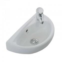 Keramische wastafel handwasser met kraangat 39x23cm