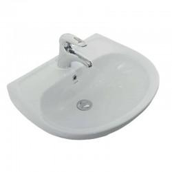 Keramische wastafel handwasser met kraangat 60x45cm