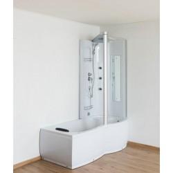 Ligbad met douche Corida 170cm rechts hoek