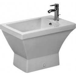 DURAVIT 2nd floor Staand bidet 66 cm 2nd floor wit  , 3 kraangaten WonderGliss