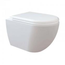 Creavit Creavit design ophang wc, verborgen bevestiging met wc-zitting soft-close