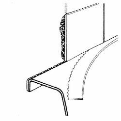 KERAMAG 1 roverticaal loopgat  kuipprofielband