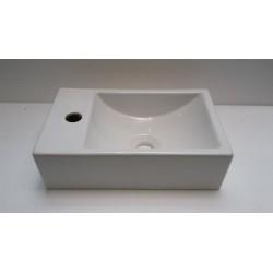 Banio handwasser rechthoek met kraangat links
