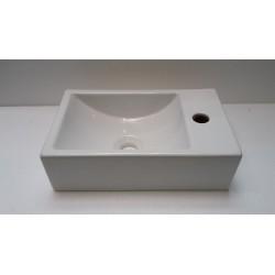 Banio handwasser rechthoek met kraangat rechts
