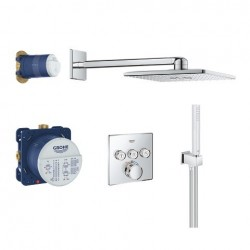 Grohe Perfect Shower Set met SmartControl inbouwthermostaat, 3 uitgangen, vierkant