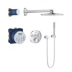 Grohe Perfect Shower Set met SmartControl inbouwthermostaat, 3 uitgangen, rond