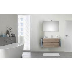 Pelipal Valencia Keramische wastafel met onderkast (2 laden) + Spiegel incl. LED - San Remo eiken