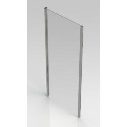 Banio-Belu vaste wand met verchroomde aluminium profielen en 6mm easy clean glas - Afmetingen 90x190cm