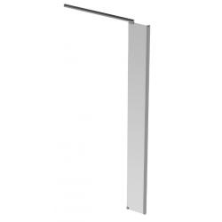 Banio Design Anne Zijwand met helder easy clean glas 6mm en verchroomd aluminium hoekprofiel - 30X200cm