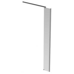 Banio Design Diane Zijwand met helder easy clean glas 8mm en verchroomd aluminium hoekprofiel - 30X200cm