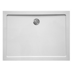 Banio Design Helios Douchebak in wit kunststofcomposiet en afvoergat van 90mm diameter - 120x90x3,5cm.