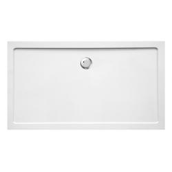 Banio Design Helios Douchebak in wit kunststofcomposiet diameter 90mm - 160x90x3,5cm