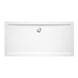 Banio Design Helios Douchebak in wit kunststofcomposiet afvoergat van 90mm diameter - 180x90x3,5cm