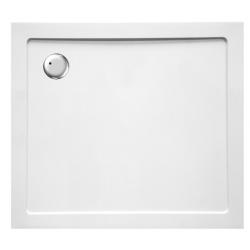 Banio Design Helios Douchebak in wit kunststofcomposiet afvoergat van 90mm diameter - 100-x90x3,5cm