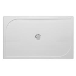 Banio Design Argos Douchebak in polybeton gelcoat Wit - 120x90x3cm