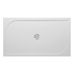 Banio Design Argos Douchebak in polybeton gelcoat Wit - 140x80x3cm