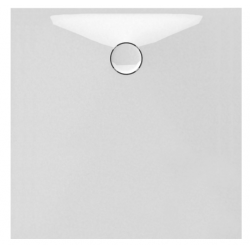 Banio Design Protos Douchebak in solid surface Wit - 100X100x3,5cm