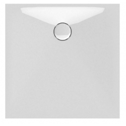 Banio Design Protos Douchebak in solid surface Wit - 90x90x3,5cm