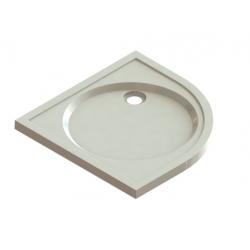 Banio Design Protos Douchebak kwartrond in solid surface Wit - 90x90x3,5cm