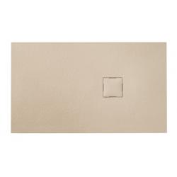 Banio Design Kryptos Douchebak in polybeton steenimitatie Crème - 120x90x3cm