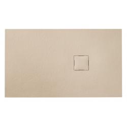 Banio Design Kryptos Douchebak in polybeton steenimitatie Crème - 140x90x3cm