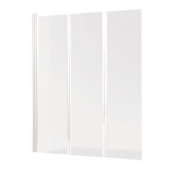 Banio Design Malio Badwand 3-delig met witte profielen - 130x140cm