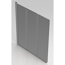 Banio Design Malio Badwand 3-delig met verchroomde profielen - 130x140cm