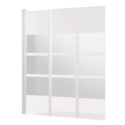 Banio Design Balor Badwand 3-delig met witte profielen - 130x140cm