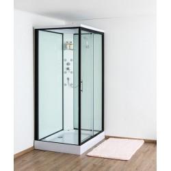 Design Anke Douchecabine rechts 90x120 cm met schuifdeur - Zwart