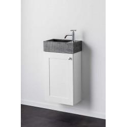 Meuble lave-mains Banio-Jago Couleur: Blanc Hauteur 60 Largeur 38,8 Profondeur 21,7