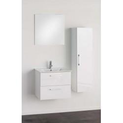 Badkamermeubel Banio-Dago Wit met spiegel en kolomkast - 50x59x45,6 cm
