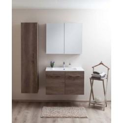 Badkamermeubel Banio-Dante Nebraska met glanzende wastafel - 55x90x51 cm