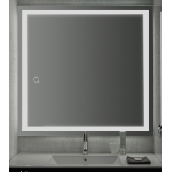 Spiegel met LED verlichting Banio-Ada - Breedte 80 cm, 30W, 2592Lm