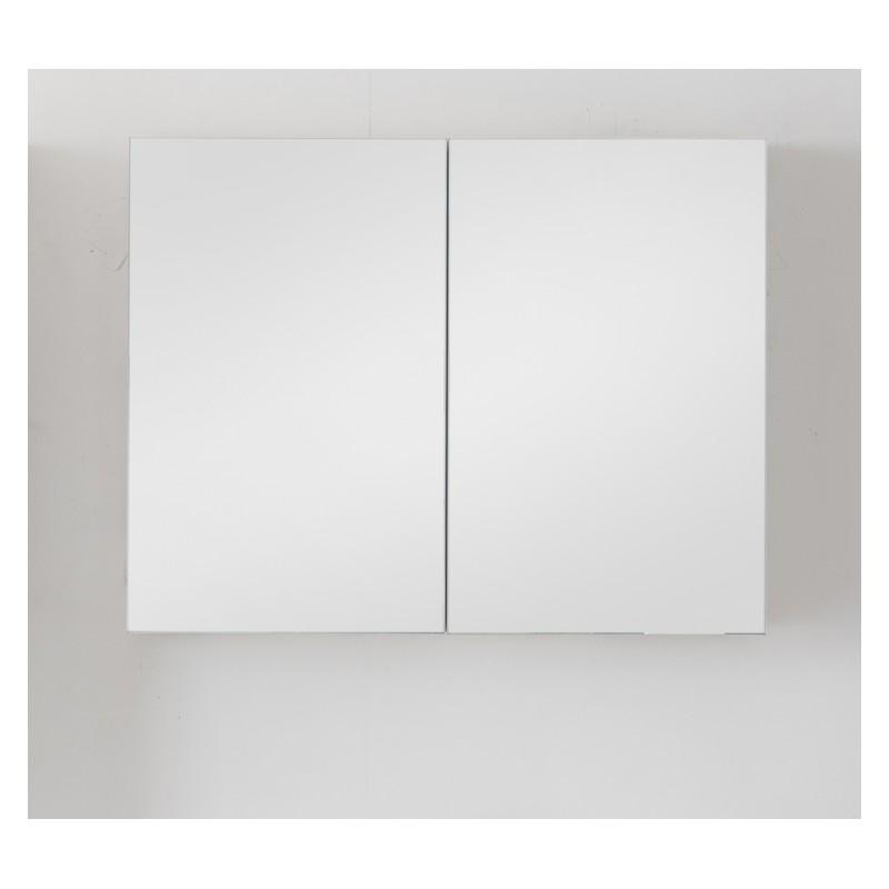 Miroir avec armoire pour meuble de salle de bain banio - Hauteur d un miroir de salle de bain ...