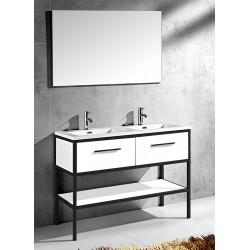 Banio Design Angelo Badkamermeubel 120 cm - Wit/Zwart